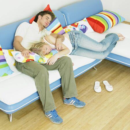 couple on sofa photo