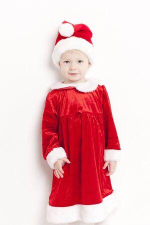 christmas motive: little girl as Santa Claus
