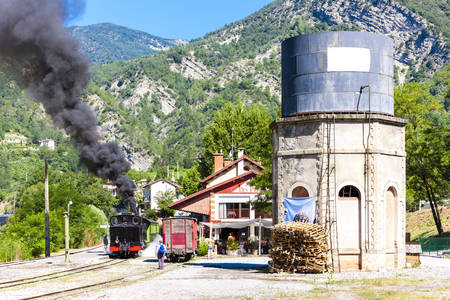 steam locomotive: steam locomotive, Villars-sur-Var, Provence, France Editorial