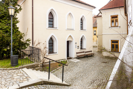trebic: Front synagogue, Jewish Quarter, Trebic, Czech Republic Stock Photo