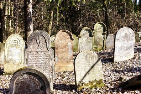 czech republic: Jewish cemetery, Luze, Czech Republic
