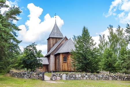 ethnographic: wooden church, Kaszubski ethnographic park in Wdzydzki Park Krajobrazowy, Pomerania, Poland