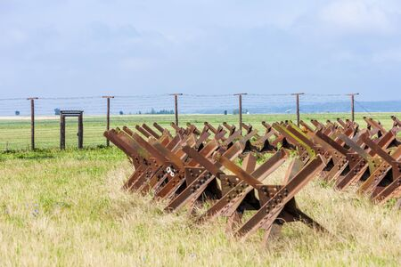 bearded wire: remains of iron curtain, Satov, Czech Republic