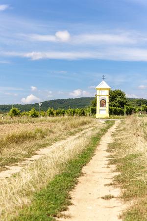 wayside: wayside with vineyard near Retz, Lower Austria, Austria