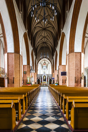 evangelist: interior of Saint John the Evangelist Cathedral, Kwidzyn, Pomerania, Poland