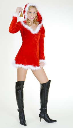 christmas motive: Santa Claus with a bell Stock Photo