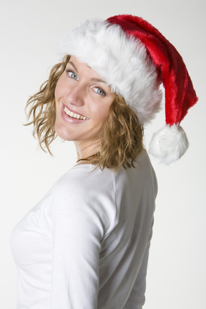 festival moments: womans portrait - Santa Claus