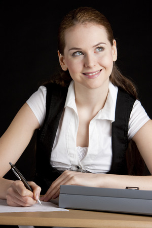 portrait of businesswoman at office photo