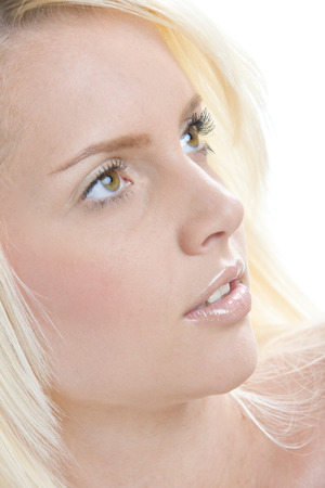 blond haired: womans portrait Stock Photo