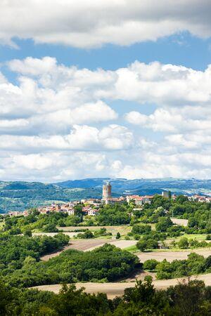 donjon: Montpeyroux, Puy-de-Dome Department, Auvergne, France Stock Photo