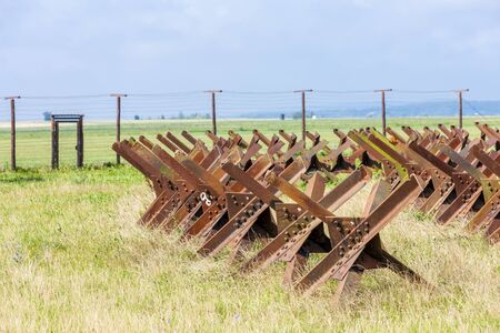 demarcation: remains of iron curtain, Satov, Czech Republic