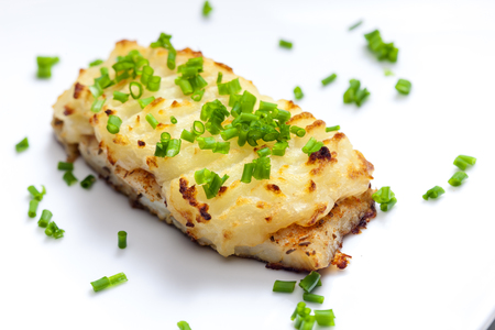 mashed potatoes: cod baked with mashed potatoes