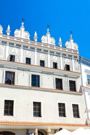 rynek: house at Rynek of Old Town, Lublin, Lublin Voivodeship, Poland Stock Photo