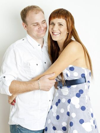 Retrato de abrazos de pareja