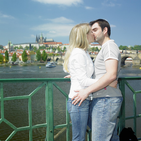truelove: couple in Prague, Czech Republic Stock Photo