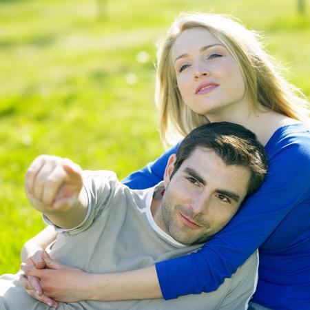 truelove: couple sitting on meadow