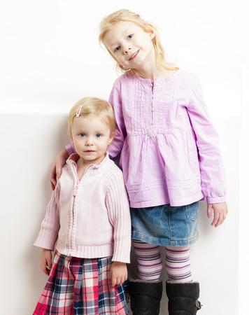 skirts: little girls wearing skirts Stock Photo