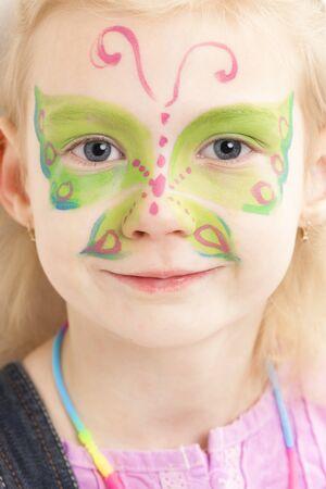portret van meisje met schminken