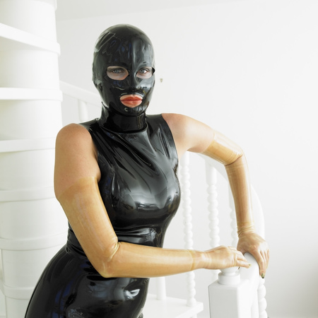 extravagancy: portrait of woman in latex