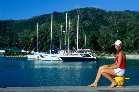 la digue: port, La Digue, Seychelles