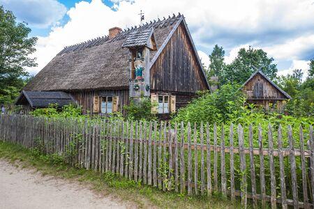 ethnographic: Kaszubski ethnographic park in Wdzydzki Park Krajobrazowy, Pomerania, Poland Editorial