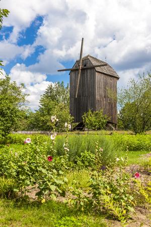 ethnographic: windmill, Kaszubski ethnographic park in Wdzydzki Park Krajobrazowy, Pomerania, Poland