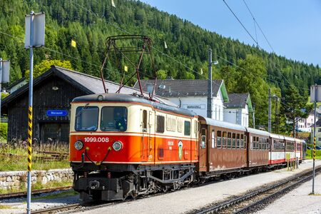 narrow gauge railway: narrow gauge railway, Mariazell, Styria, Austria Editorial
