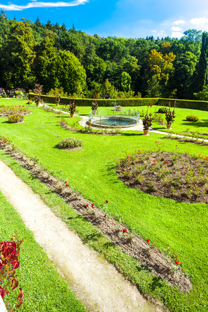 nad: garden of palace in Kamenice nad Lipou, Czech Republic Editorial