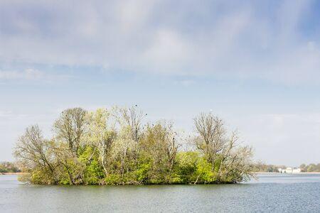 the silence of the world: Hlohovecky pond, region Lednice-Valtice, Czech Republic Stock Photo