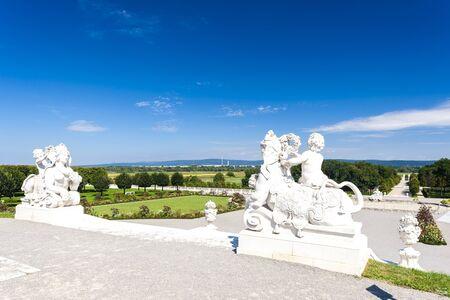 statuary garden: baroque garden of Hof Palace, Lower Austria, Austria