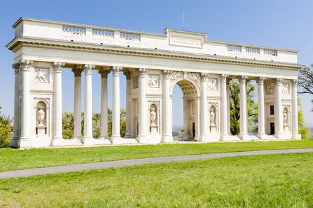 czech republic: Colonnade on Reistna, Czech Republic