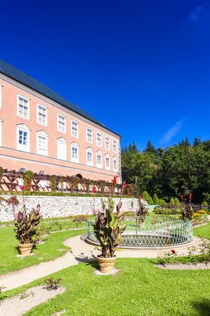 nad: palace in Kamenice nad Lipou with garden, Czech Republic