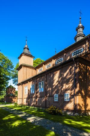 narew: wooden Catholic church in Narew, Podlaskie Voivodeship, Poland