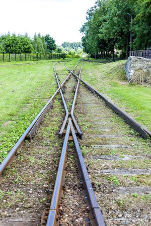 narrow gauge: the crossing of normal and narrow gauge, Elk, Warmian-Masurian Voivodeship, Poland