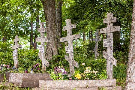 cemetery in campus of Wojnowo monastery, Warmian-Masurian Voivodeship, Poland