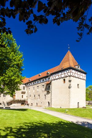 Budyne nad Ohri Palace, Czech Republic Stock Photo