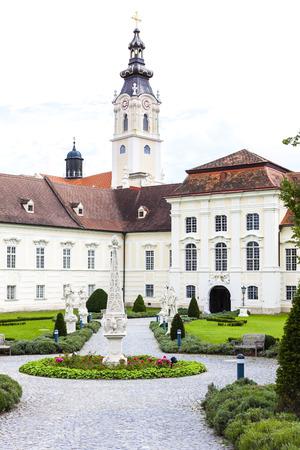 benedictine: benedictine monastery with garden in Altenburg, Lower Austria, Austria