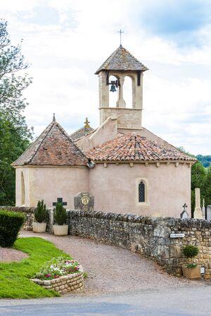 church in Saint-Martin-de-Lixy, Burgundy, France
