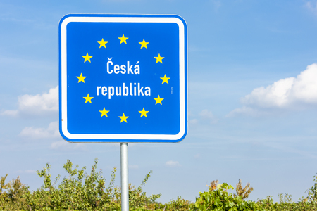 board on the border of the Czech Republic