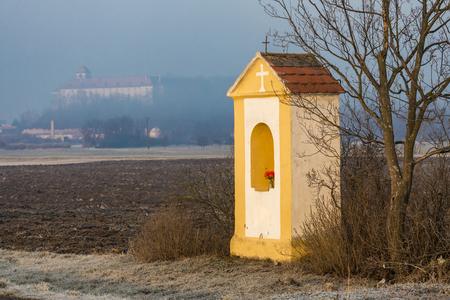 Gods torture and Jaroslavice Castle, Czech Republic