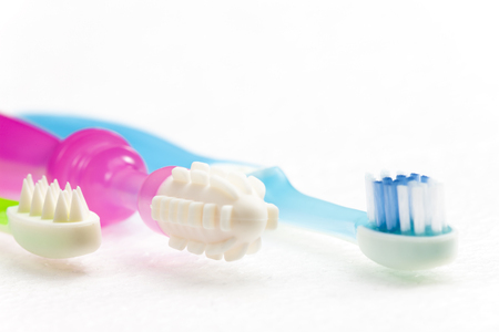 teethers and toothbrush