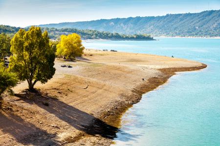 St Croix Lake, Provence, France 免版税图像