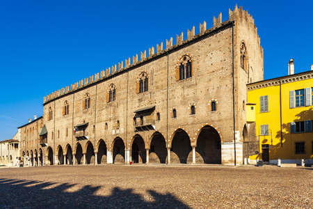 Old square in Mantova, Italy 写真素材