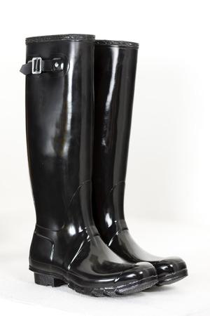women's black rubber boots