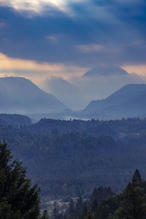 Mountains near river Tagliamento, Trentino-Alto Adige, Italy Stock Photo