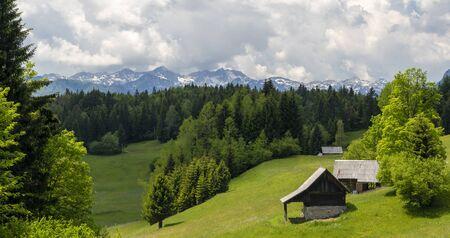 Triglavski national park near Bohinj lake, Slovenia