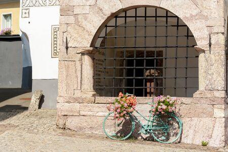 Inner city of old town Eisenerz in Styria, Austria Stockfoto