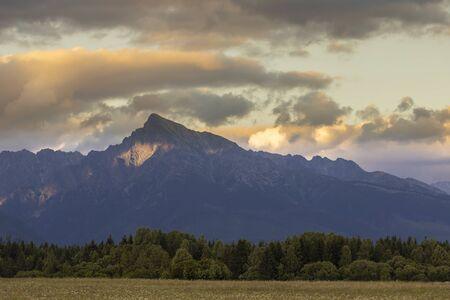 Sunset with Krivan, Hight Tatras, Slovakia