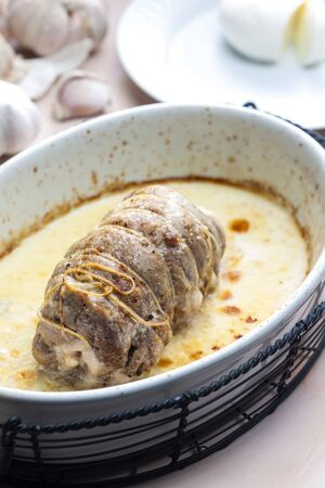 turkey roulade with goat cheese