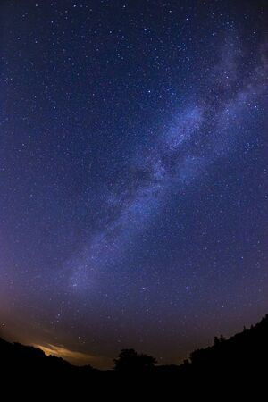 night sky with milky way, Slovakia Фото со стока